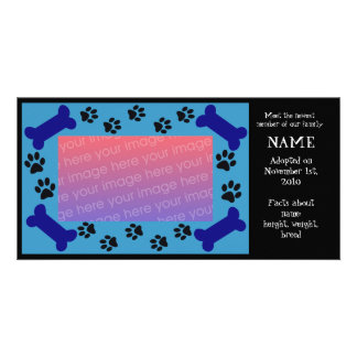 Puppy Adoption Card Personalized Photo Card