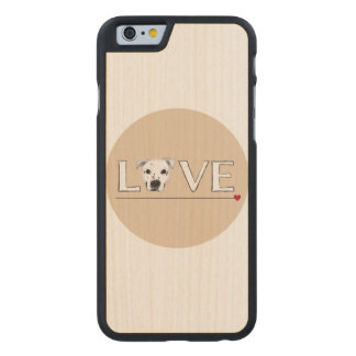 Puppy Love Text Art Carved® Maple iPhone 6 Slim Case