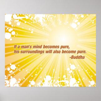 Pure Buddha Poster