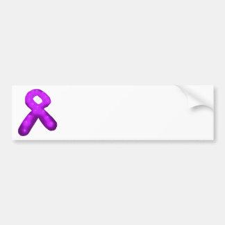 Purple Awareness Ribbon Candle Bumper Sticker
