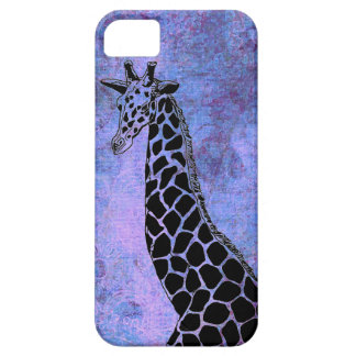Purple/Blue Giraffe II - iPhone 5/5S Case