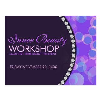 Purple Bubbles Beauty Workshop Business Flyer Postcard