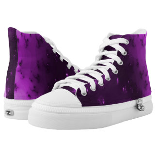 Purple Burst of Light Hi Top Printed Shoes