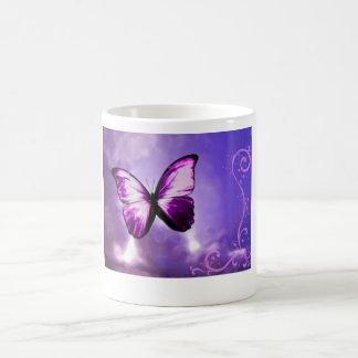 Purple Butterfly Basic White Mug