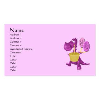 Purple Dragon Balloons Cute Business Card