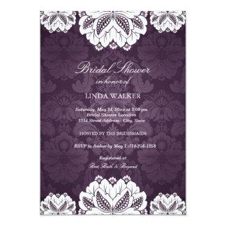 Purple Exotic flower | Bridal Shower Invitation