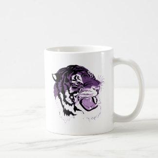 Purple Faced Tiger Basic White Mug