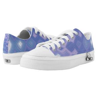 Purple Garden Party Lo Top Printed Shoes
