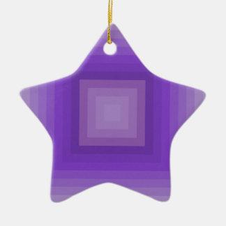 Purple geometrical pattern ceramic star decoration