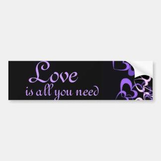 Purple Hearts Bumper Sticker