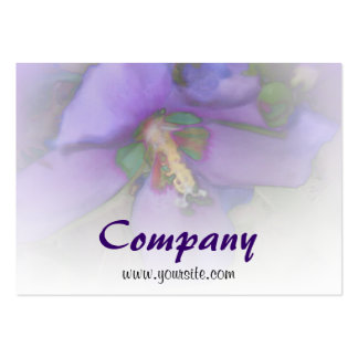 Purple Hibiscus Pack Of Chubby Business Cards