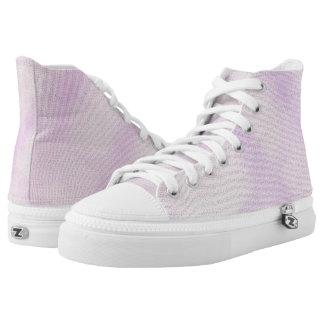 Purple Hues Hi Top Printed Shoes