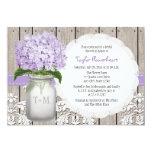 Purple Hydrangea Monogram Mason Jar Bridal Shower 13 Cm X 18 Cm Invitation Card