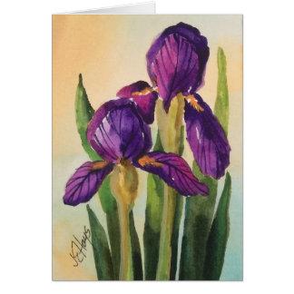 Purple Iris Card