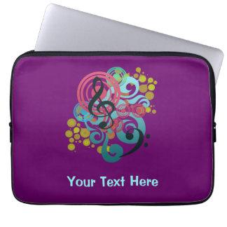 Purple Music Swirl custom laptop case Laptop Computer Sleeves