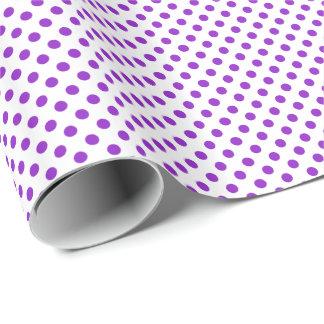 Purple on White Polka Dot