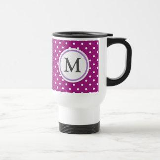 Purple Polka Dot Pattern Stainless Steel Travel Mug