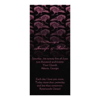 Purple Raven Gothic Wedding Program Customised Rack Card