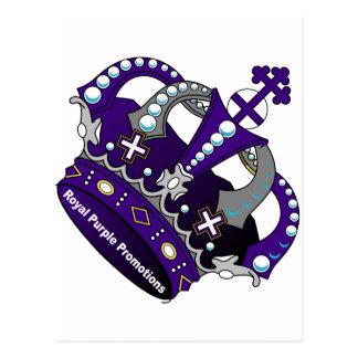 Purple Royal Crown Postcard