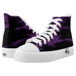 Purple Scar Hi Top Printed Shoes