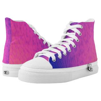 Purple Sphere Hi Top Printed Shoes