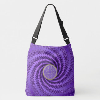 Purple Spiral Fractal lCeltic Mandala Tote Bag