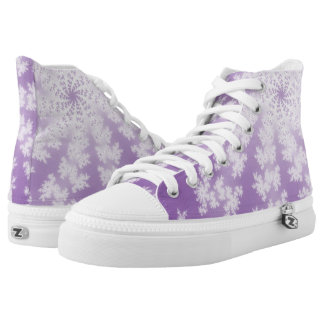 Purple Star Hi Top Printed Shoes