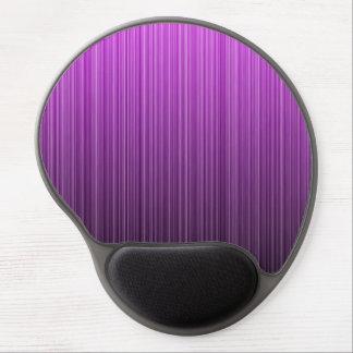 Purple Striped Gel Mouse Pad