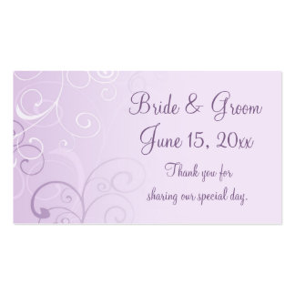 Purple Swirls Wedding Favor Tags Pack Of Standard Business Cards