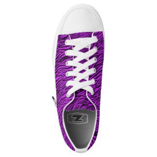 Purple Zebra Stripes Low Top Shoes Printed Shoes