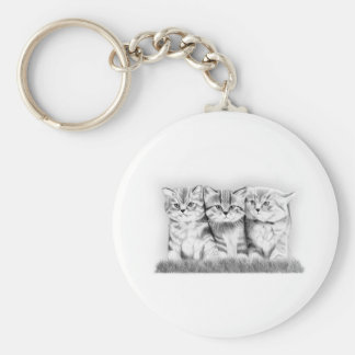 Pussy Cats Basic Round Button Key Ring