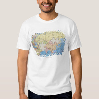 Puzzle Globe with two pieces missing Shirt