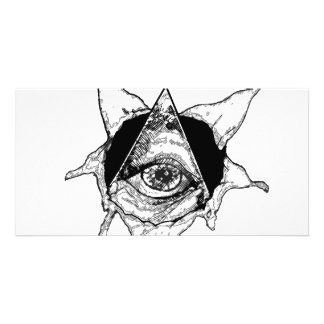 pyramid eye photo greeting card