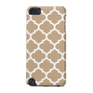 Quatrefoil Camel Brown iPod Touch (5th Generation) Case