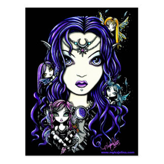 Queen Fae Dark Faery Goddess postcard