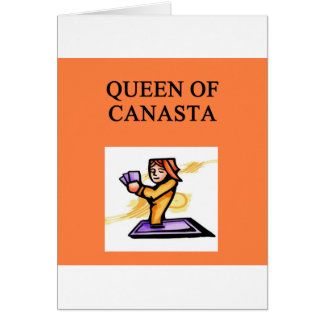 (queen of canasta greeting card