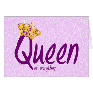 Queen of the Trailerpark Greeting Card