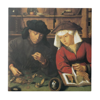 Quentin Matsys The Moneylender and his Wife Small Square Tile