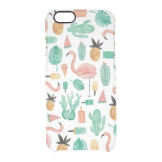 Quiet the Prickly Pair Clear iPhone 6/6S Case