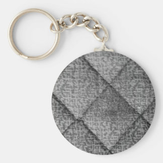 Quilted Basic Round Button Key Ring