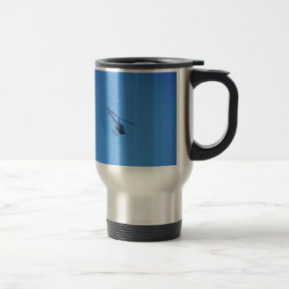R44 Helicopter Stainless Steel Travel Mug