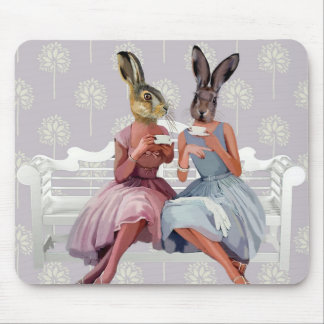 Rabbit Chat Mouse Pad