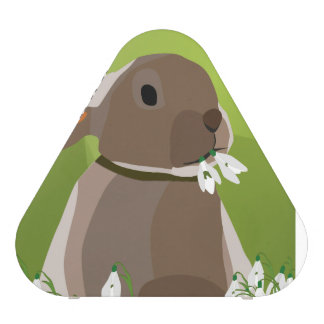 Rabbit eating snowdrops
