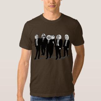 rage comic meme faces walking t-shirt