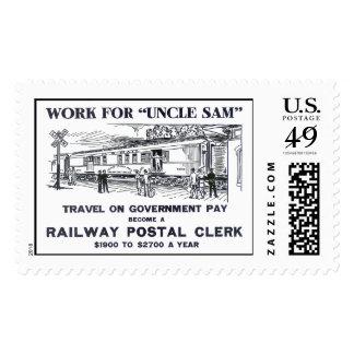 Railway Postal Clerk 1926 Postage Stamp