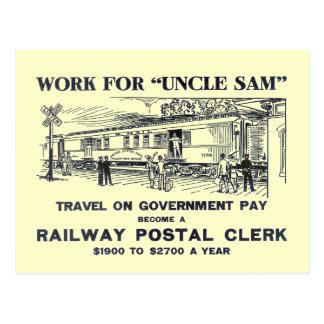 Railway Postal Clerk 1926 Postcard