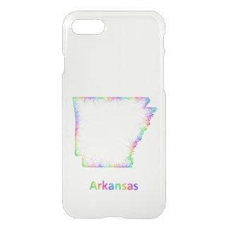 Rainbow Arkansas map iPhone 7 Case