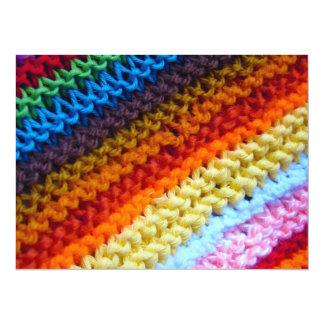 Rainbow Crotchet Blanket 14 Cm X 19 Cm Invitation Card
