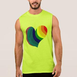 Rainbow Heart Sleeveless Shirts
