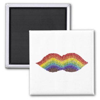 Rainbow Moustache Magnet